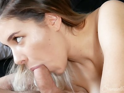 4K Mind-blowing tongue and suction BJ! Watch his cock pumping cum!