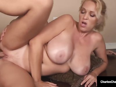 Busty Cock Loving Cougar Charlee Chase Hammered By Hard Cock Hubby!