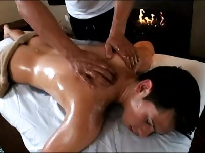 Butt fuck after massage with Chase Austin