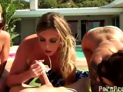 Busty Pool Party Orgy