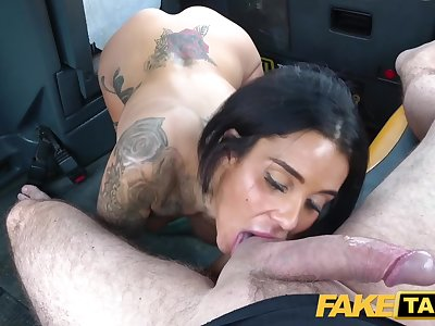 Fake Taxi Horny fellate and busty anal fuck reward for driver