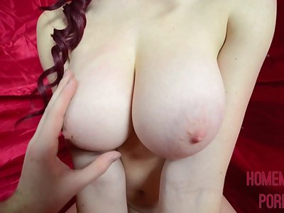Dorm Room Pulverizing and Cum On My Big Tits