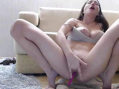 This mouth-watering brunette is wondrous as hell observe part2 on 19cam com