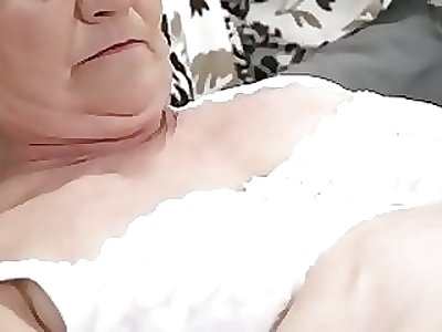 Aged fur covered pussy filled with young cock